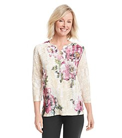 Alfred Dunner® Calabria Floral Bouquet Knit Top