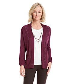 Alfred Dunner® Calabria Solid Layered Look Top