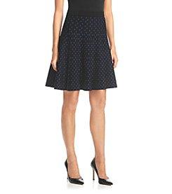 Chelsea & Theodore® Diamond Dot Flare Skirt