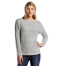 Jeanne Pierre® Cable Pullover