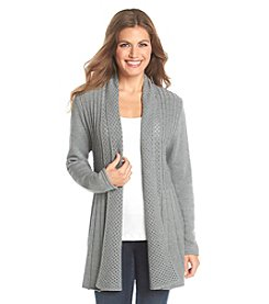 Notations® Petites' Solid Fishtail Cardigan
