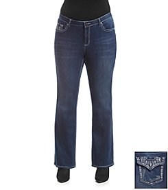 Earl Jean® Plus Size Stitch Arrow Bootcut Jean