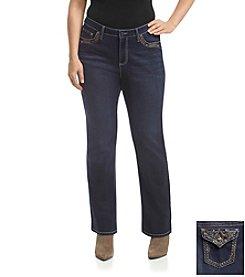 Earl Jean® Plus Size Copper Bling Flap Pocket Bootcut Jean
