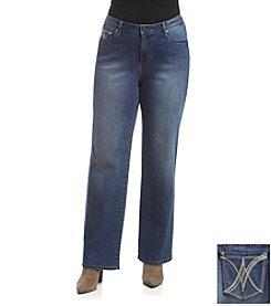 Earl Jean® Plus Size Patch V-Trim Bootcut Jean
