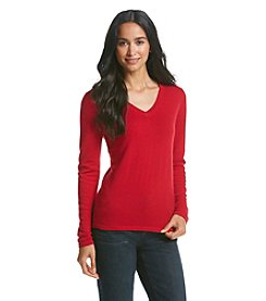 PLY Cashmere® Cashmere V-Neck Sweater