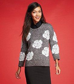 Cable & Gauge® Eyelash Sweater