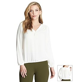 Chaus Split Neck Blouse