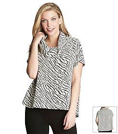 Chaus Dolman Sleeve Zebra Top