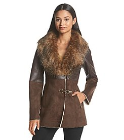 Jessica Simpson Faux Shearling Toggle Coat