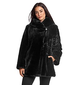 1 Madison® Textured Faux Fur Coat