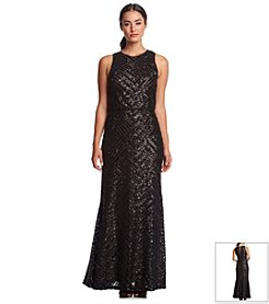 Calvin Klein Beaded Blouson Gown