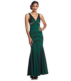 Xscape Tafetta Jeweled Dress
