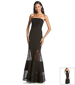 Jessica Simpson Lace Pintuck Gown