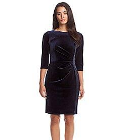 Vince Camuto® Velvet Fitted Dress