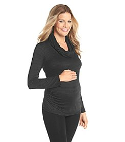 Three Seasons Maternity™ Long Sleeve Cowl Neck Stripe Top