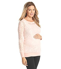 Three Seasons Maternity™ All Over Lace Top