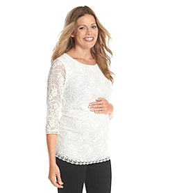 Three Seasons Maternity™ 3/4 Sleeve Lace Tunic