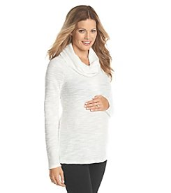 Three Seasons Maternity™ Long Sleeve Solid Cowlneck Top