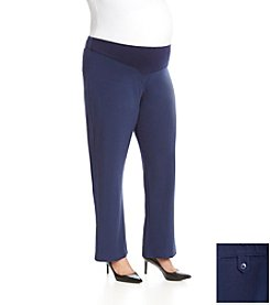 Three Seasons Maternity® Plus Size Adjustable Waist Dress Pants