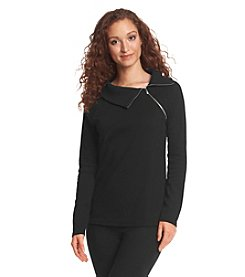 Rafaella® Zip Neck Sweater