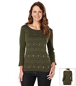 Rafaella® Embellished Knit Top