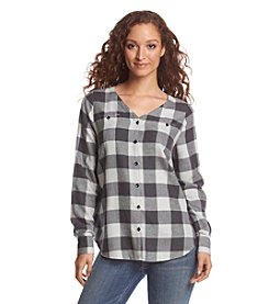 GH Bass & Co. Soft Plaid Top