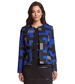 Kasper® Geo Printed Twill Jacket