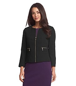 Ivanka Trump® Round Neck Crepe Jacket
