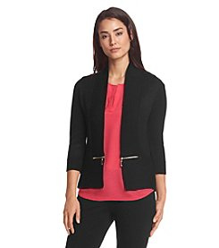 Ivanka Trump® Zip Pocket Cardigan