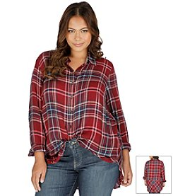 Lucky Brand® Plus Size Bungalow Plaid Shirt