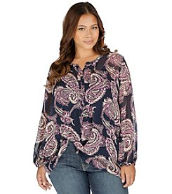 Lucky Brand® Plus Size Paisley Tunic