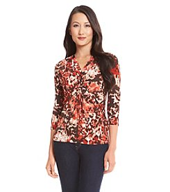 Laura Ashley® Petites' Blurred Smudge Top