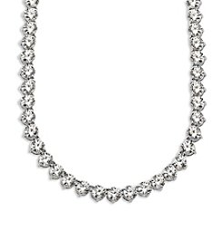 Balentino® Sterling Silver White Swarovski Cubic Zirconia Tennis Necklace