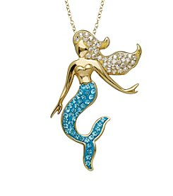 Impressions® Sterling Silver Mermaid Pendant in Swarovski Crystals