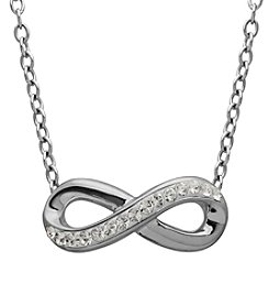 Impressions® Sterling Silver Infinity Necklace in Swarovski Crystals