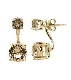 Impressions® Earrings in Sterling Silver with Shades of Golden Brown Swarovski Crystal