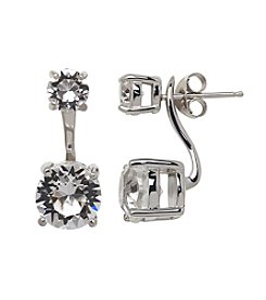 Impressions® Earrings in Sterling Silver with White Swarovski Crystal