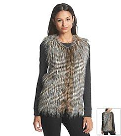 Sequin Hearts® Faux Feather Vest
