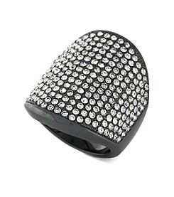Vince Camuto™ Hematite Tone Pave Shield Ring