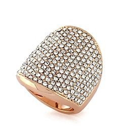 Vince Camuto® Rose Goldtone Pave Shield Ring