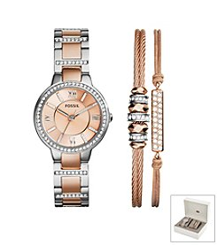Fossil® Women's Virginia Watch Boxset