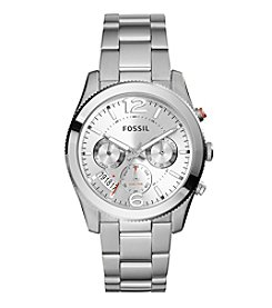 Fossil® Women's Perfect Boyfriend Watch In Silvertone