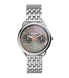 Fossil® Women's Tailor Watch In Silvertone With Mother Of Pearl Dial