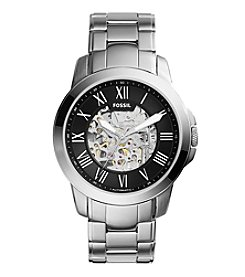 Fossil® Men's Grant Automatic Watch in Silvertone