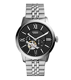 Fossil® Men's Townsman Automatic Watch In Silvertone