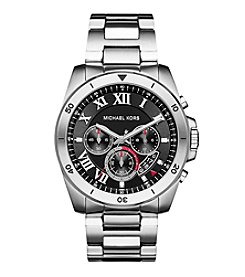 Michael Kors® Silvertone Stainless Steel Brecken Watch With A Black  Dial