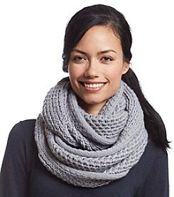 Collection 18 Solid Basketweave Loop Scarf