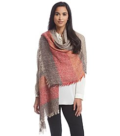 Steve Madden Stripey Lightweight Boucle Day Wrap