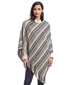 Cejon® Thin Multicolor Stripe Poncho