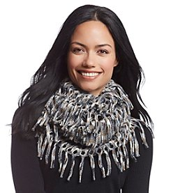Cejon® Spacedyed Metallic Open Weave Infinity Scarf